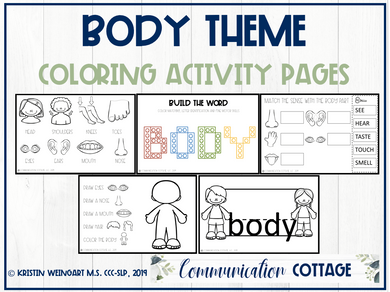 Body Theme Activity Pages