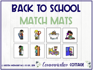 Back to School: Match Mats (PDF)