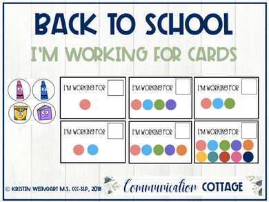 Back to School: I'm Working for Cards (PDF)