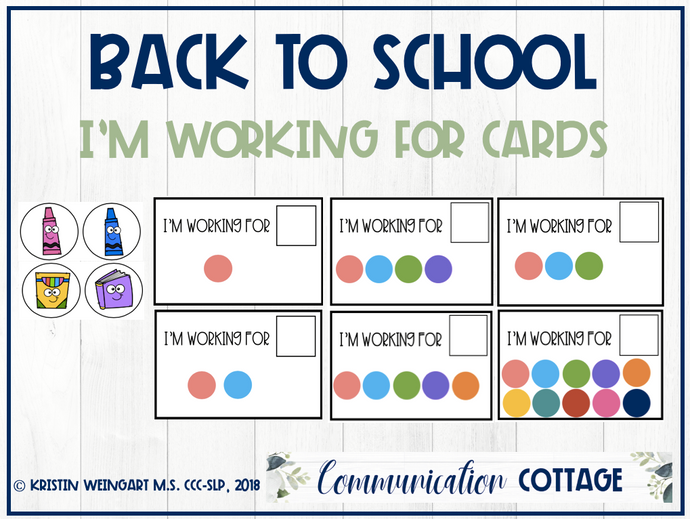 Back to School: I'm Working for Cards
