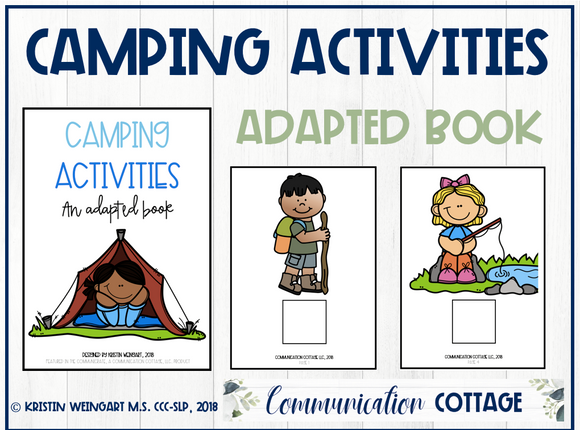 Camping Activities: Adapted Book