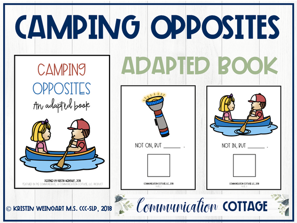 Camping Opposites: Adapted Book