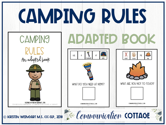Camping Rules: Adapted Book