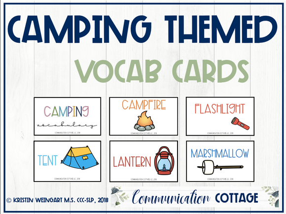 Camping Vocabulary Cards
