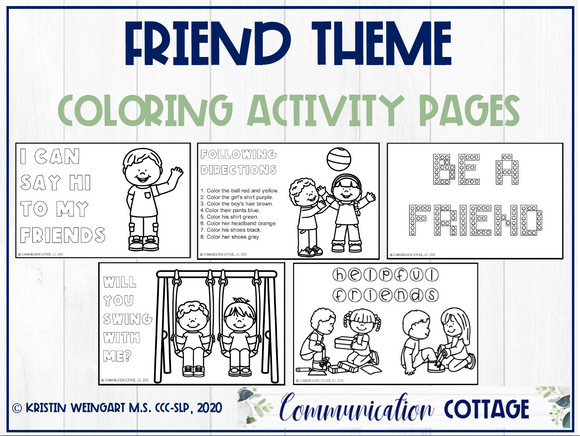 Friend Coloring Pages