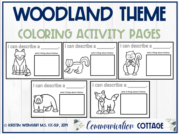 Woodland Coloring Pages