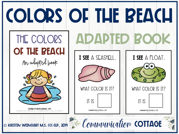 The Colors of the Beach: Adapted Book