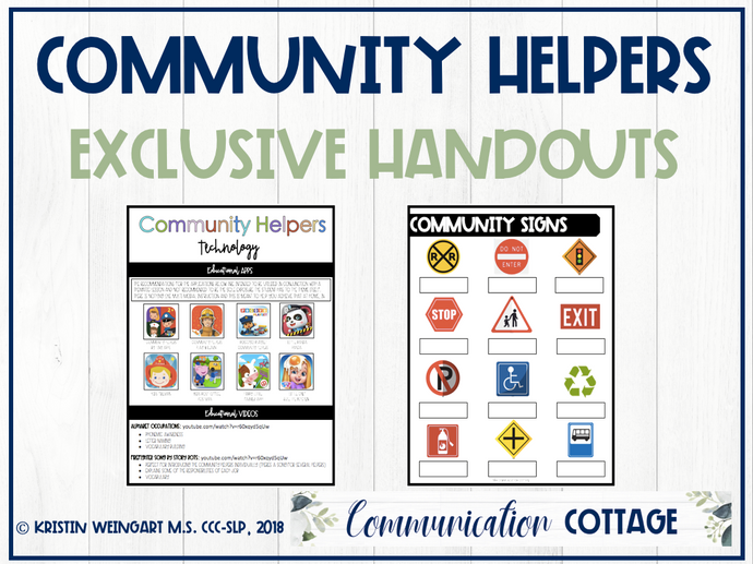 Community Helpers Exclusive Handouts