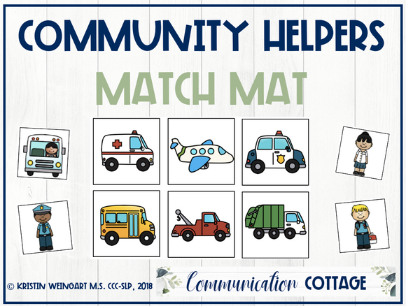 Community Helpers Match Mat