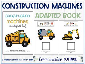 Construction Machines: Adapted Book