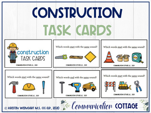 Construction Task Cards
