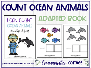 I Can Count Ocean Animals: Adapted Book (PDF)
