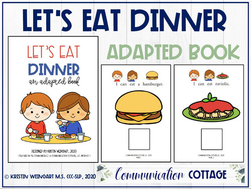 Let's Eat Dinner: Adapted Book