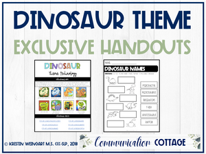 Dinosaur Exclusive Handouts