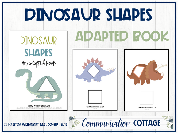 Dinosaur Shapes: Adapted Book