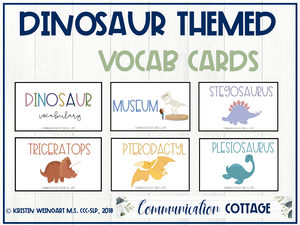 Dinosaur Vocabulary Cards