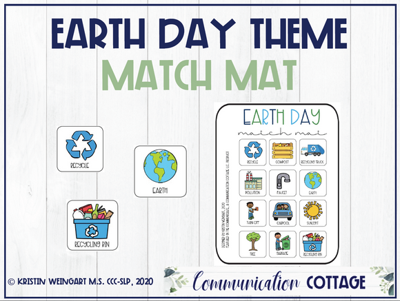 Earth Day Match Mat