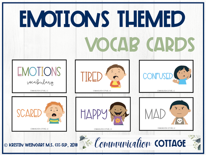 Emotion Vocabulary Cards
