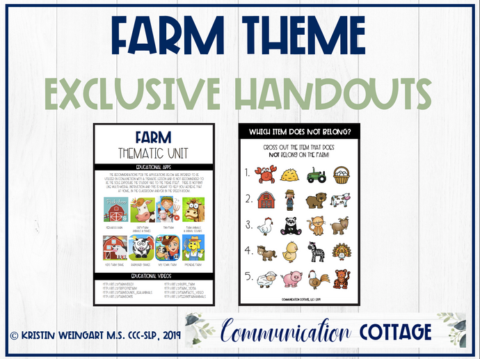 Farm Theme Exclusive Handouts