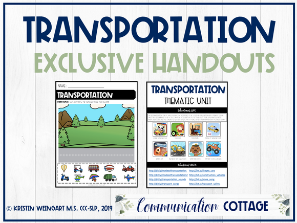 Transportation Exclusive Handouts