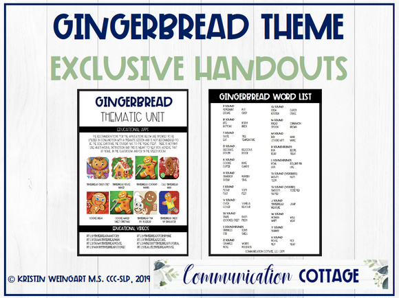 Gingerbread Exclusive Handouts