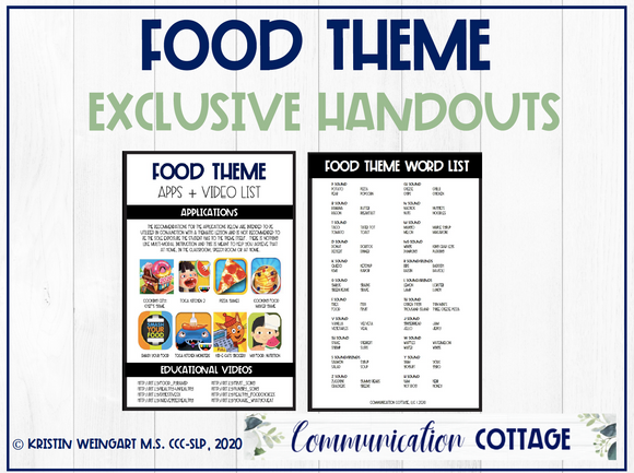 Food Theme Exclusive Handouts