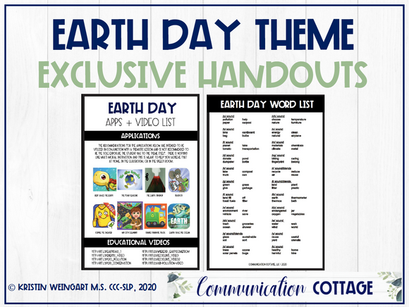 Earth Day Exclusive Handouts