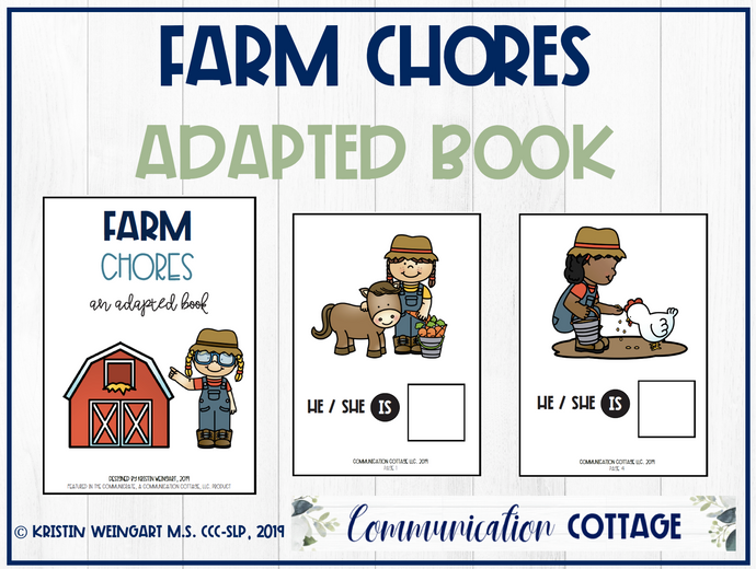 Farm Chores: Adapted Book