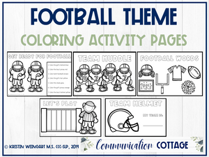 Football Activity Pages