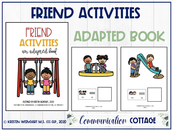 Friend Activities: Adapted Book
