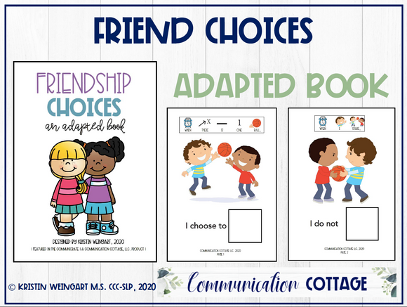 Friend Choices: Adapted Book