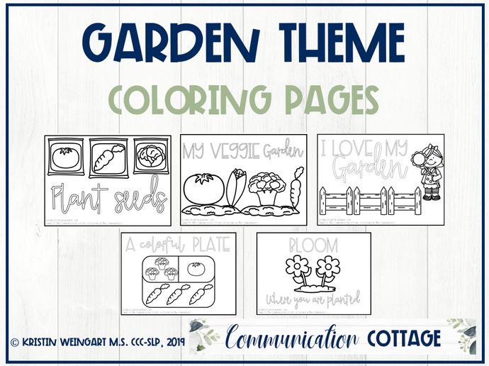 Garden Coloring Pages (PDF)