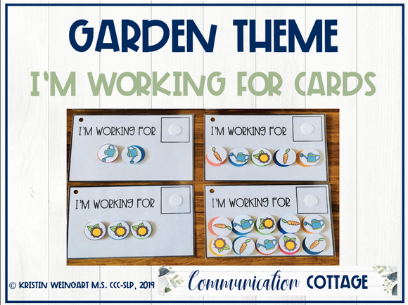 Garden: I'm Working For Cards