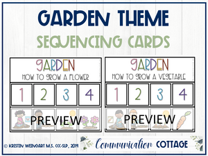 Garden Sequencing Activity