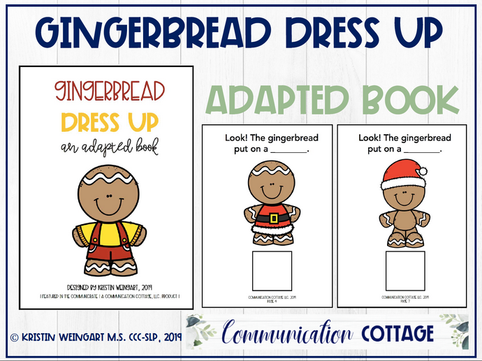 Gingerbread Dress Up: Adapted Book