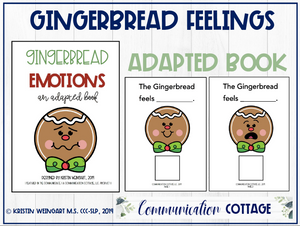 Gingerbread Feelings: Adapted Book