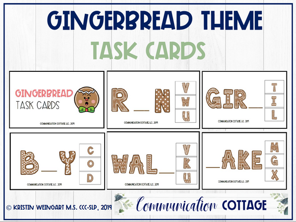 Gingerbread Task Cards