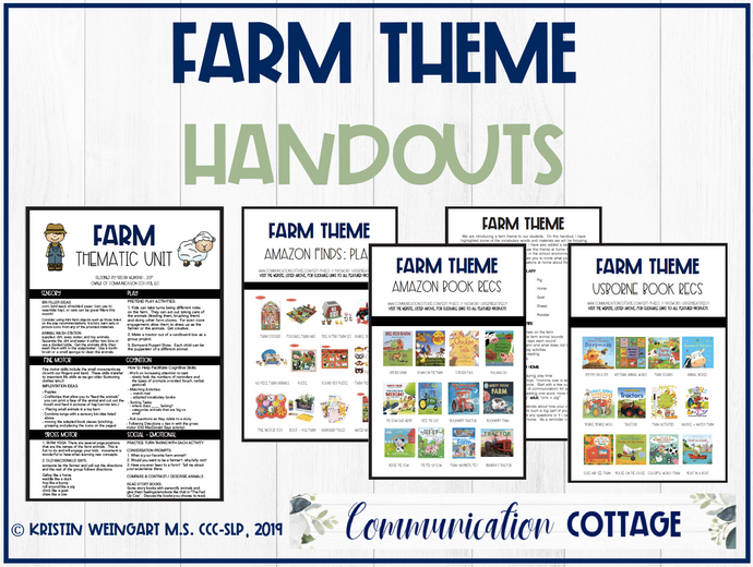 Farm Theme Guide + Handouts