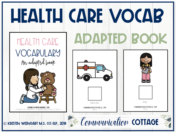 Health Care Vocabulary: Adapted Book