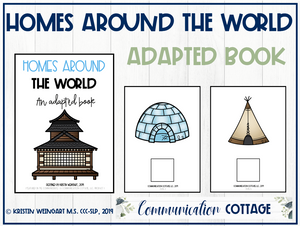 Homes Around the World Adapted Book