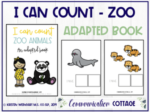 I Can Count My Zoo Animals: Adapted Book