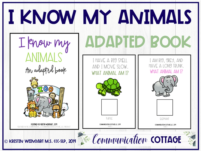 I Know My Animals: Adapted Book (PDF)