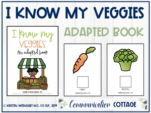 I Know My Veggies: Adapted Book (PDF)