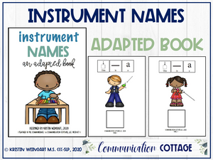 Instrument Names: Adapted Book