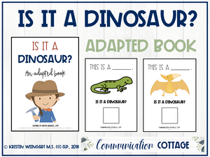 Is it a Dinosaur? Adapted Book