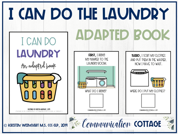 I Can Do Laundry: Adapted Book