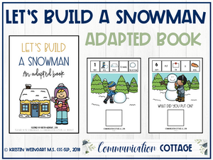 Let's Build A Snowman: Adapted Book