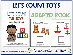 Let's Count Toys: Adapted Book