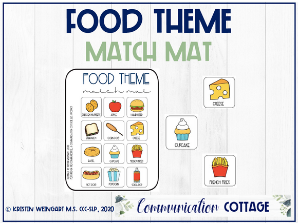 Food Match Mat