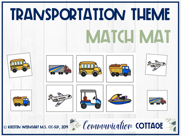 Transportation Match Mat